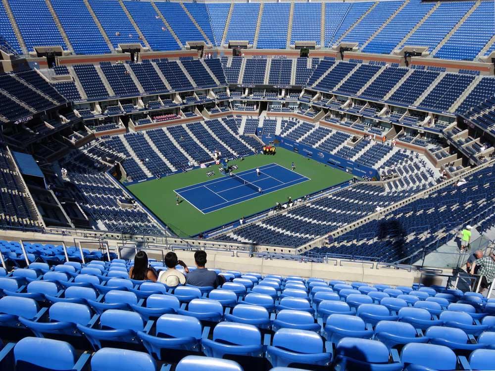 Arthur Ashe Stadium View From Promenade 307 Vivid Seats