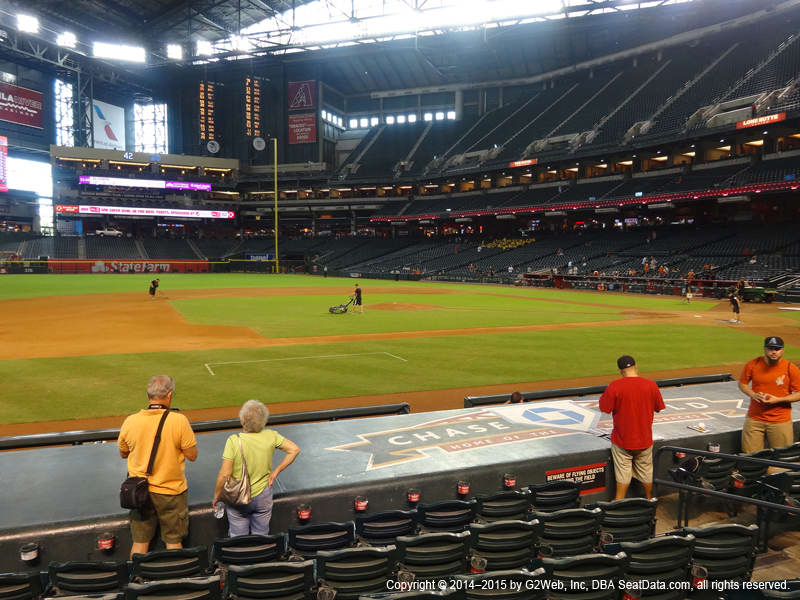 Chase Field View From Dugout P | Vivid Seats