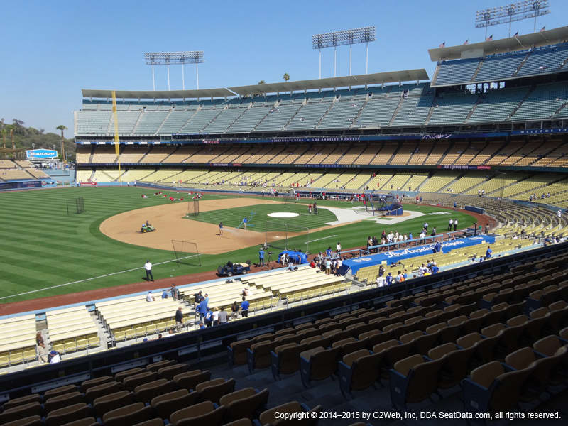 Dodger Stadium View From Loge Infield 147 Vivid Seats