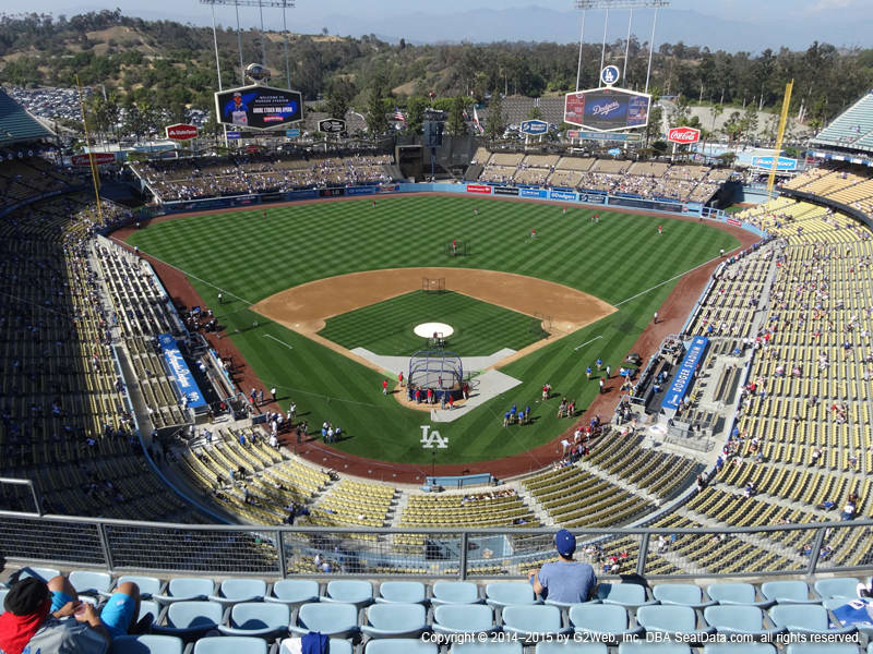 Dodger Stadium View From Top Deck 1 Vivid Seats