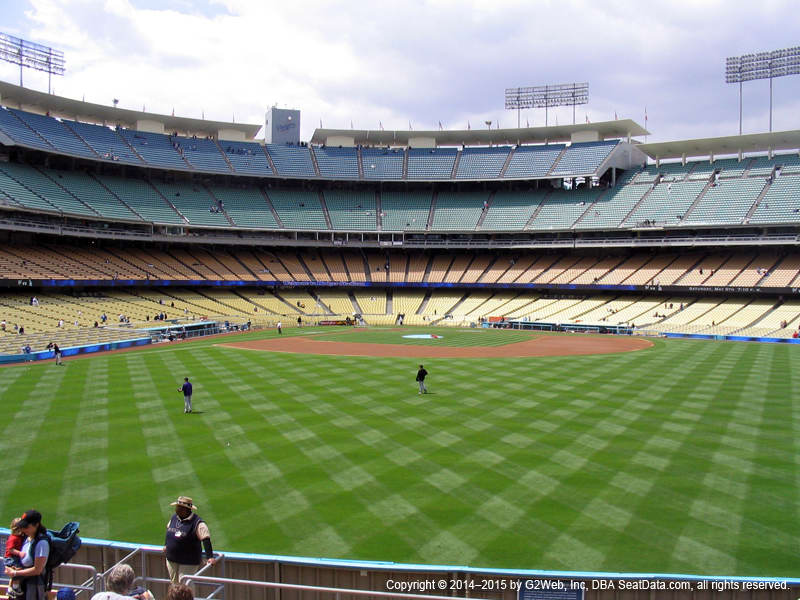 Dodger Stadium View From Right Field Pavilion 310 Vivid Seats