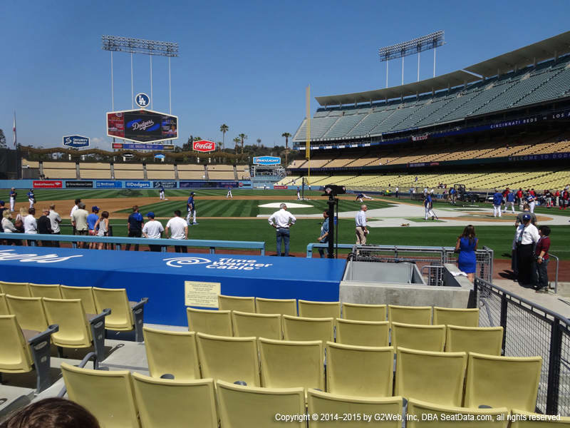 Dodger Stadium View From Dugout 9 | Vivid Seats