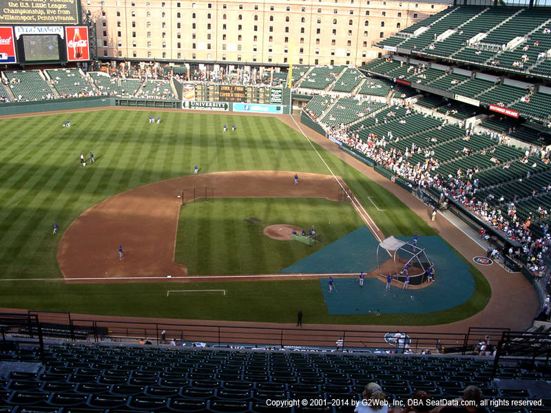 Camden Yards View From Upper Infield 350 | Vivid Seats on