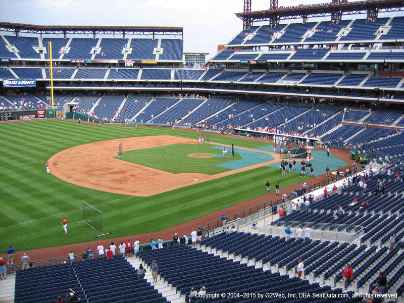 Citizens Bank Park View From Arcade 233 Vivid Seats