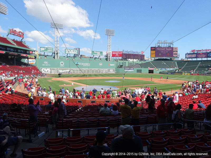 Fenway Park View From Loge Box 128 Vivid Seats