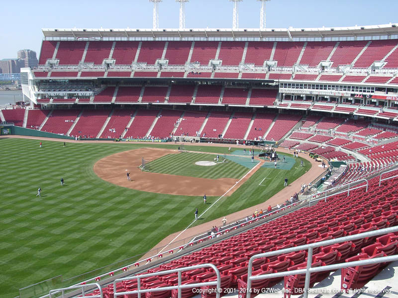 Great American Ball Park View From Mezzanine 410 Vivid Seats
