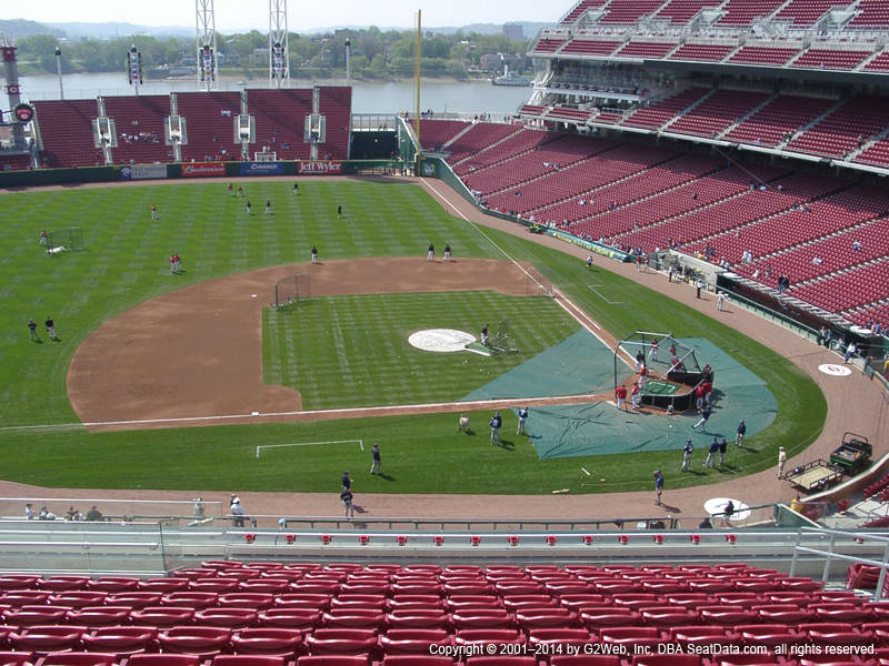 Great American Ball Park View From Mezzanine 417 Vivid Seats