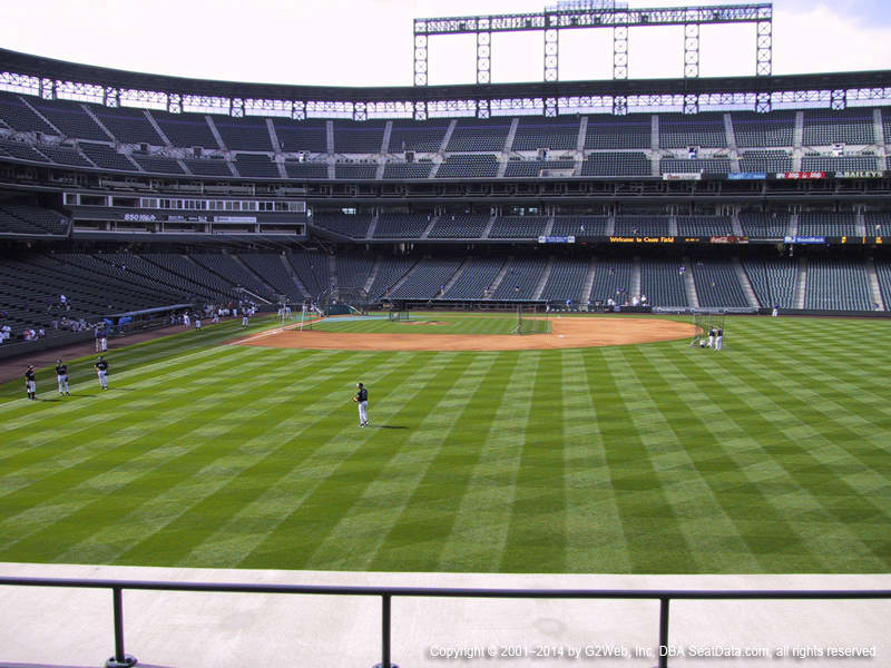Coors Field View From Right Field 106 Vivid Seats