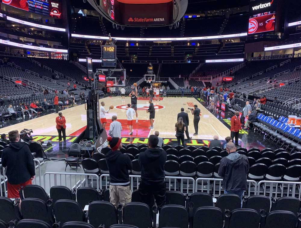 State Farm Arena View From Section 102l Vivid Seats