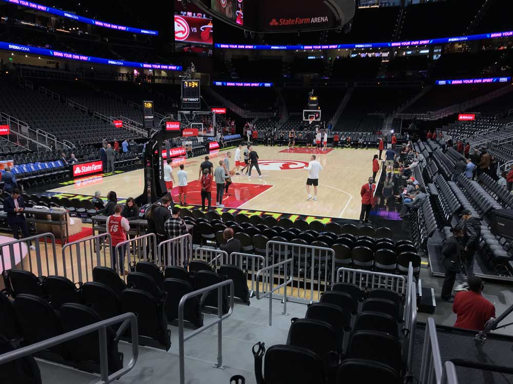 State Farm Arena View From Section 112l Vivid Seats