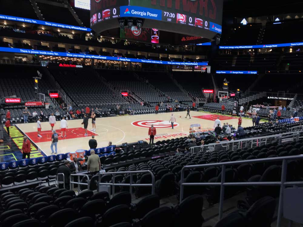 State Farm Arena View From Section 121 Vivid Seats
