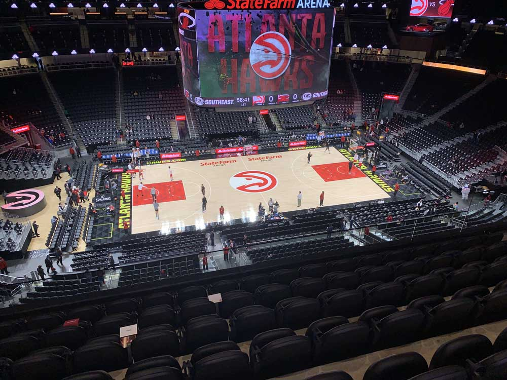State Farm Arena View From Section 210 Vivid Seats