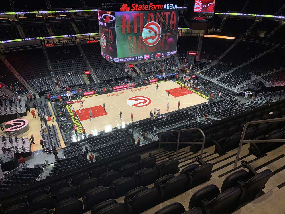 State Farm Arena View From Section 211 Vivid Seats