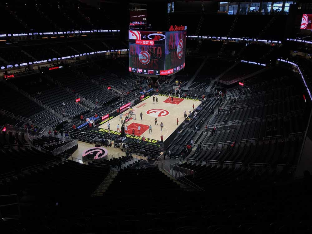 State Farm Arena View From Section 213 Vivid Seats
