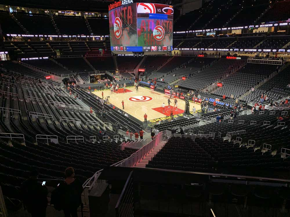 State Farm Arena View From Section T8 Vivid Seats