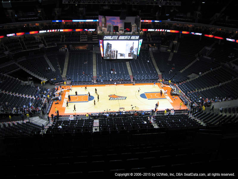 Spectrum Center View From Upper Level 209 Vivid Seats