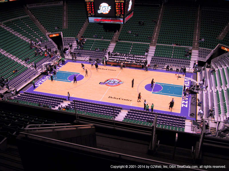 Vivint Smart Home Arena View From Upper Level 110 Vivid Seats