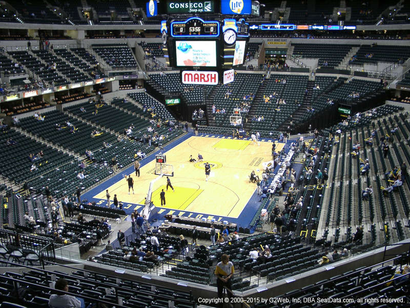 Bankers Life Fieldhouse View From Legends 110 Vivid Seats