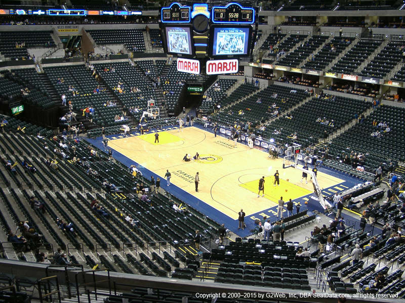 Bankers Life Fieldhouse View From Club Level 113 Vivid Seats