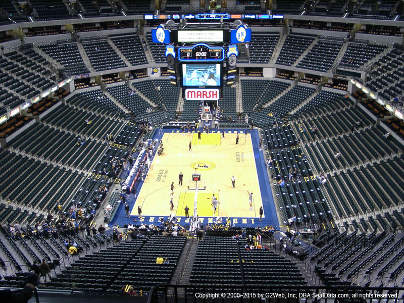 Bankers Life Fieldhouse View From Balcony Level 232 Vivid