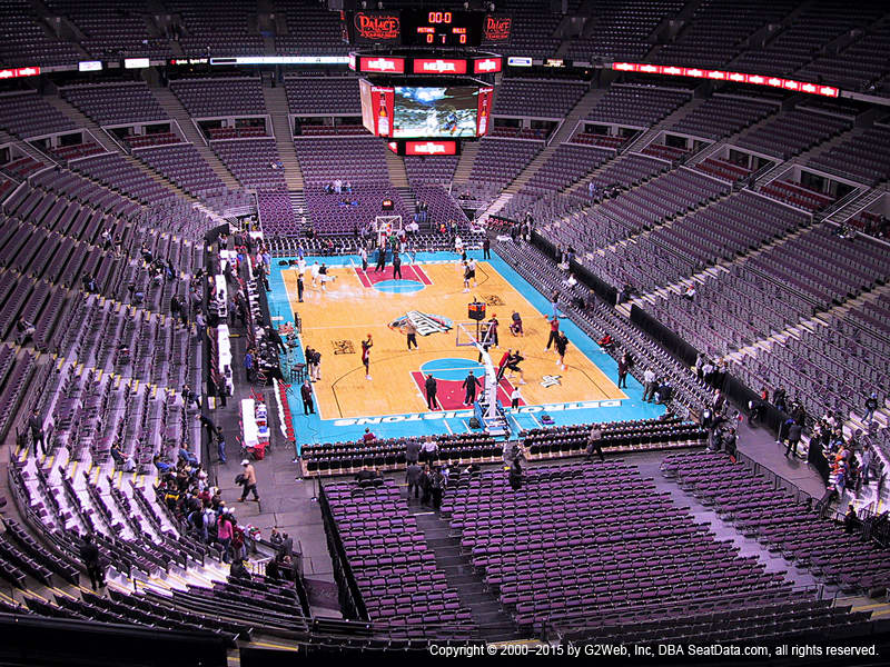 Palace Of Auburn Hills View From Upper Level 209 Vivid Seats