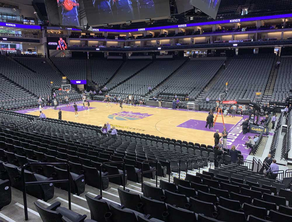 Golden 1 Center View From Section 118 Vivid Seats
