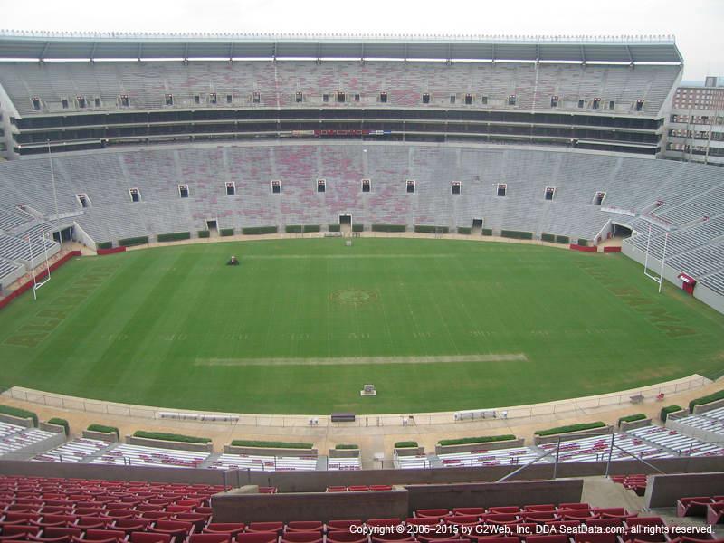 Bryant Denny Stadium View From Section U3 K Vivid Seats