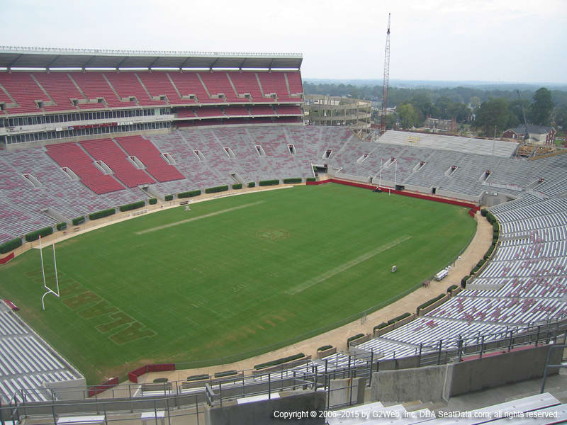 Bryant Denny Stadium View From Section U4 Bb Vivid Seats