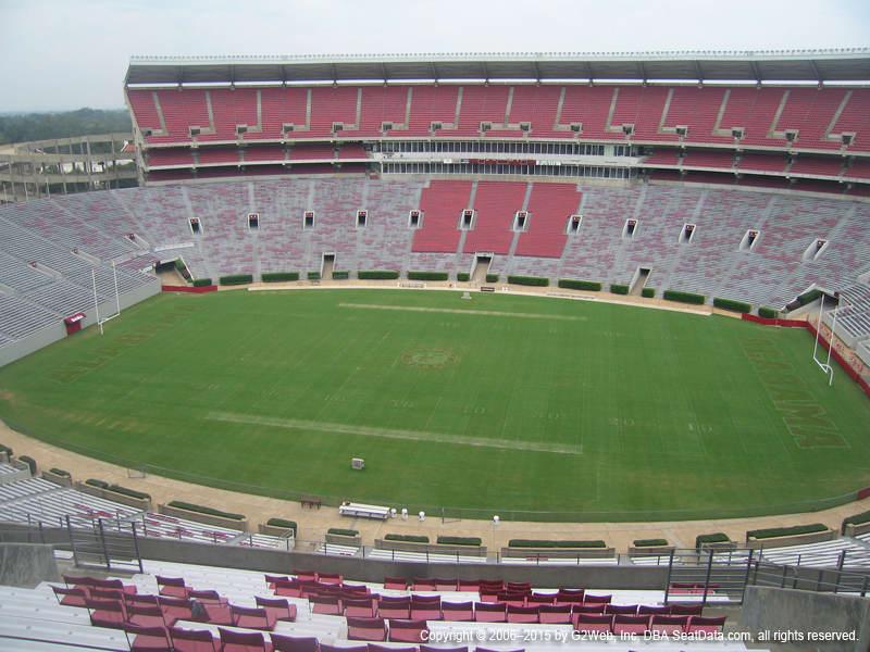 Bryant Denny Stadium View From Section U4 Kk Vivid Seats