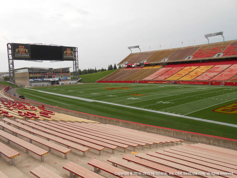 Jack Trice Stadium View From Lower Level 15 Vivid Seats