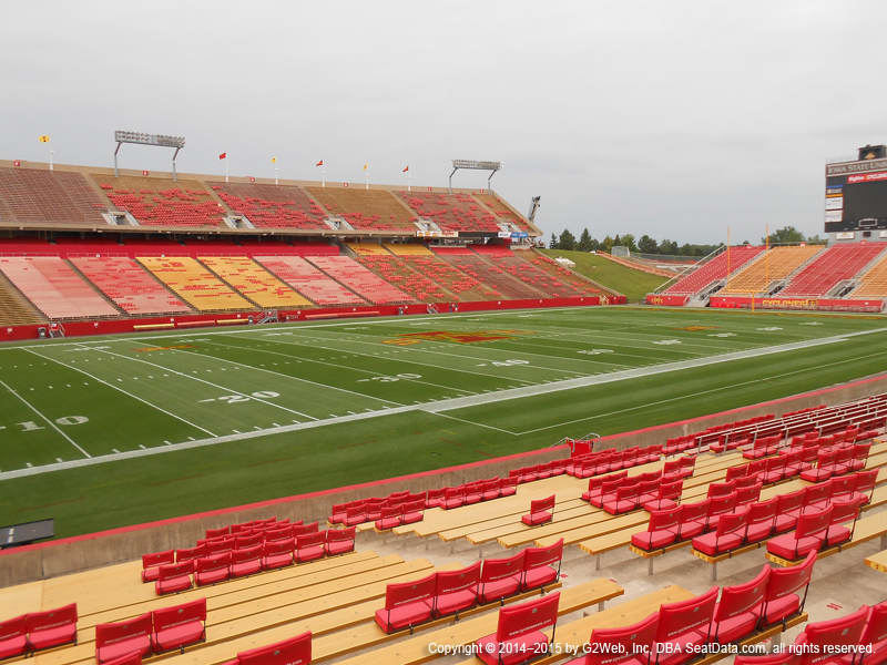 Jack Trice Stadium View From Lower Level 4 Vivid Seats