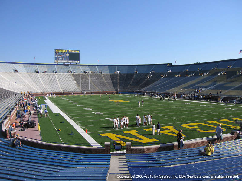 michigan stadium view from section 15 vivid seats michigan stadium view from section 15