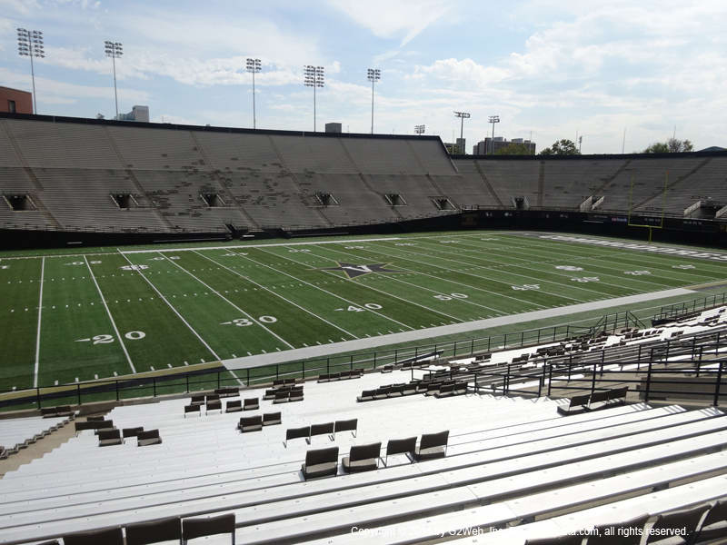 Vanderbilt Stadium View From Section B Vivid Seats