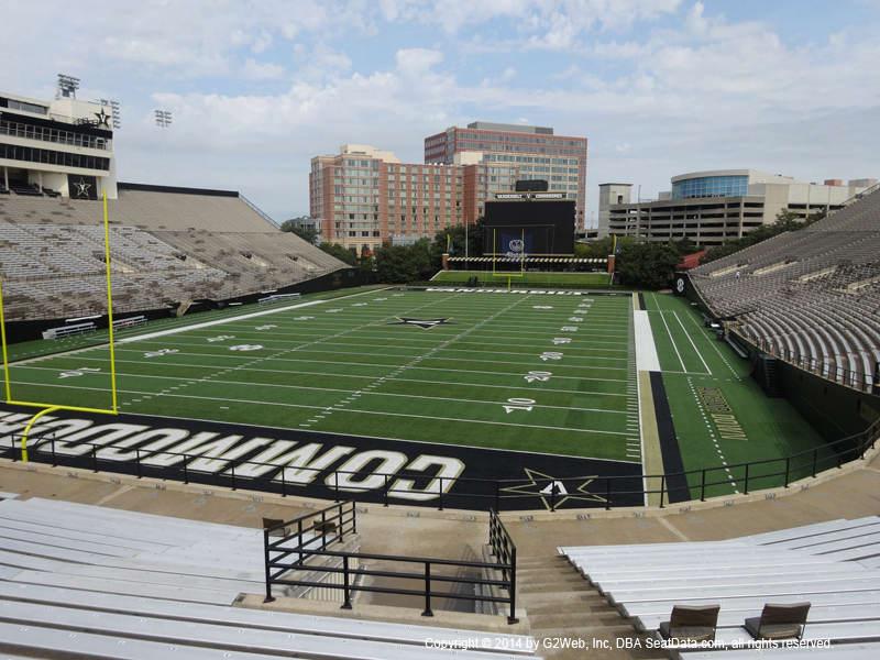 Vanderbilt Stadium View From Section N Vivid Seats