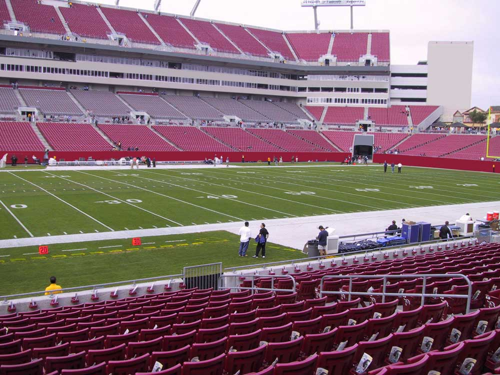 Raymond James Stadium View From Lower Level 133 Vivid Seats