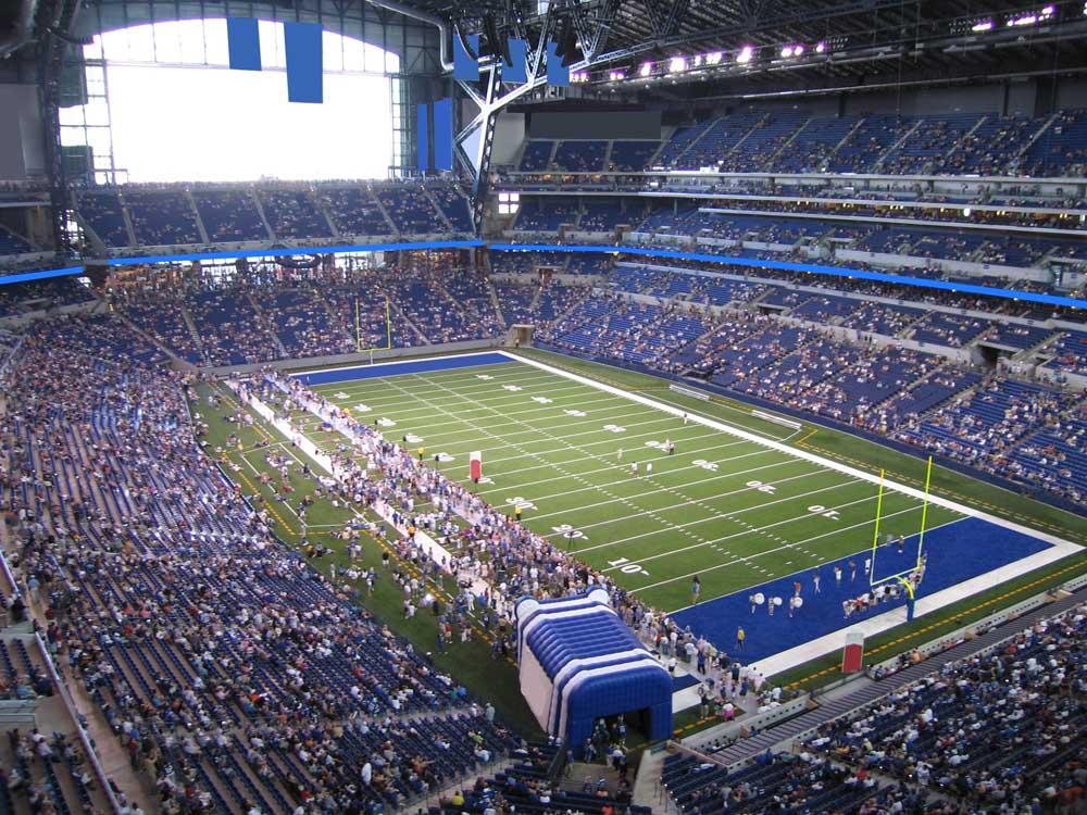 Lucas Oil Stadium View From Terrace Level 531 Vivid Seats