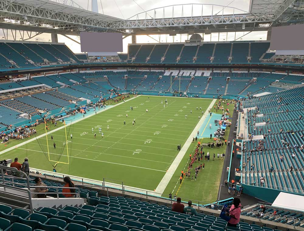 Hard Rock Stadium View From Upper Level 329 Vivid Seats