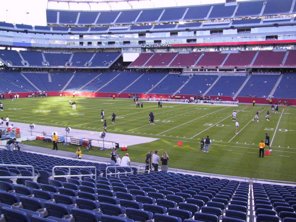 Gillette Stadium View From Lower Level 107 Vivid Seats