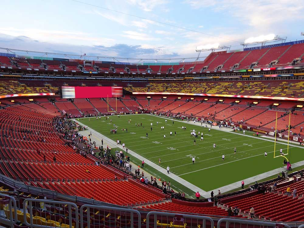 Fedexfield View From Zone D Club 336 Vivid Seats
