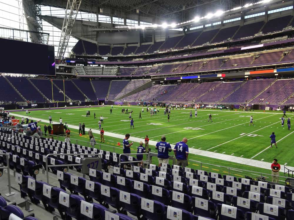 Us Bank Stadium View From Section 127 Vivid Seats