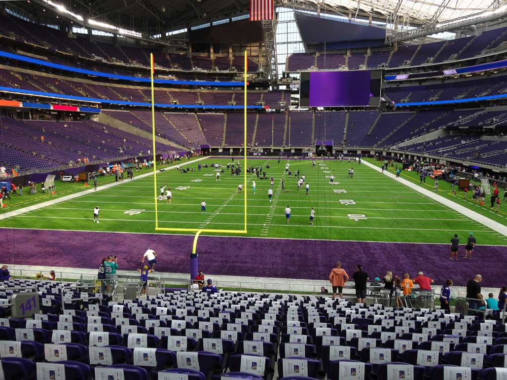 Us Bank Stadium View From Section 141 Vivid Seats