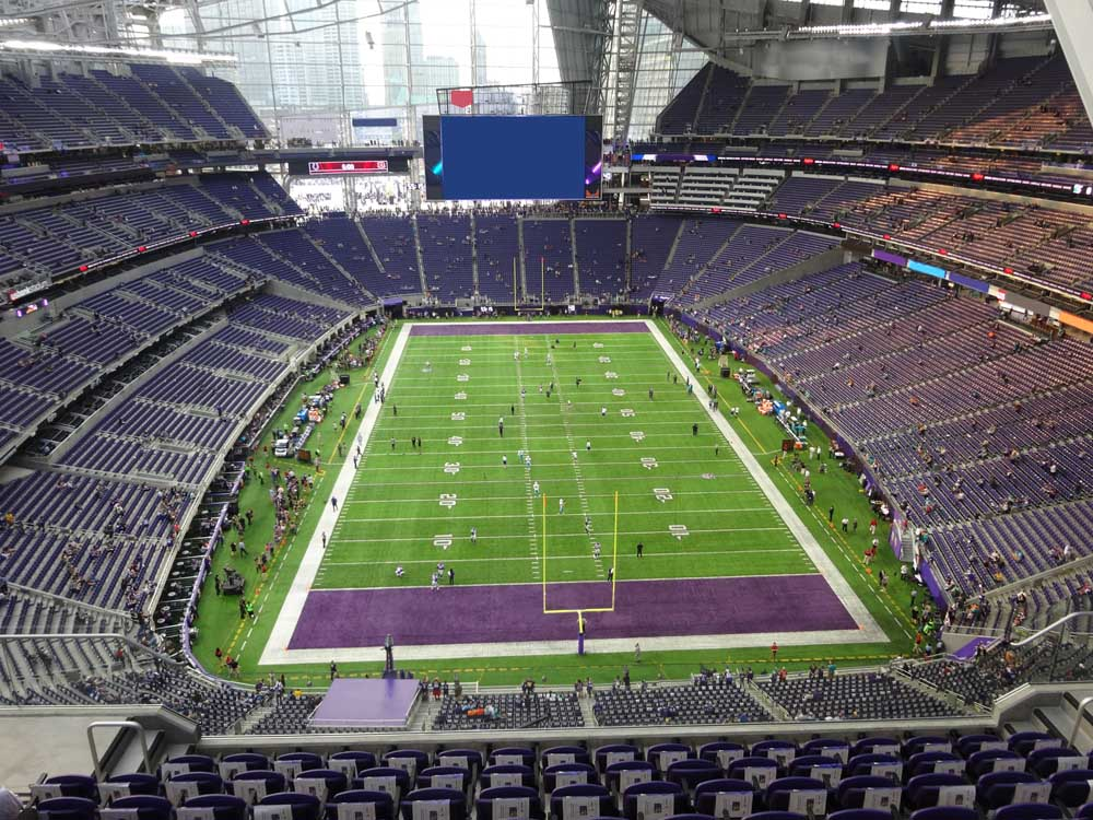 Us Bank Stadium View From Section 327 Vivid Seats