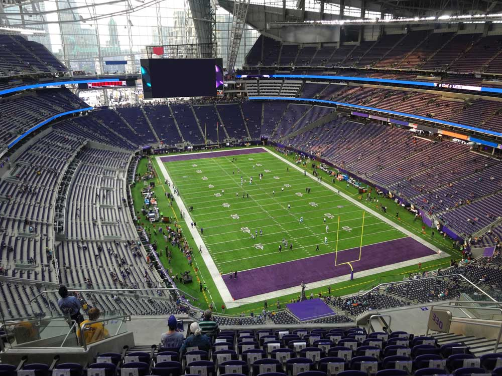 Us Bank Stadium View From Section 330 Vivid Seats