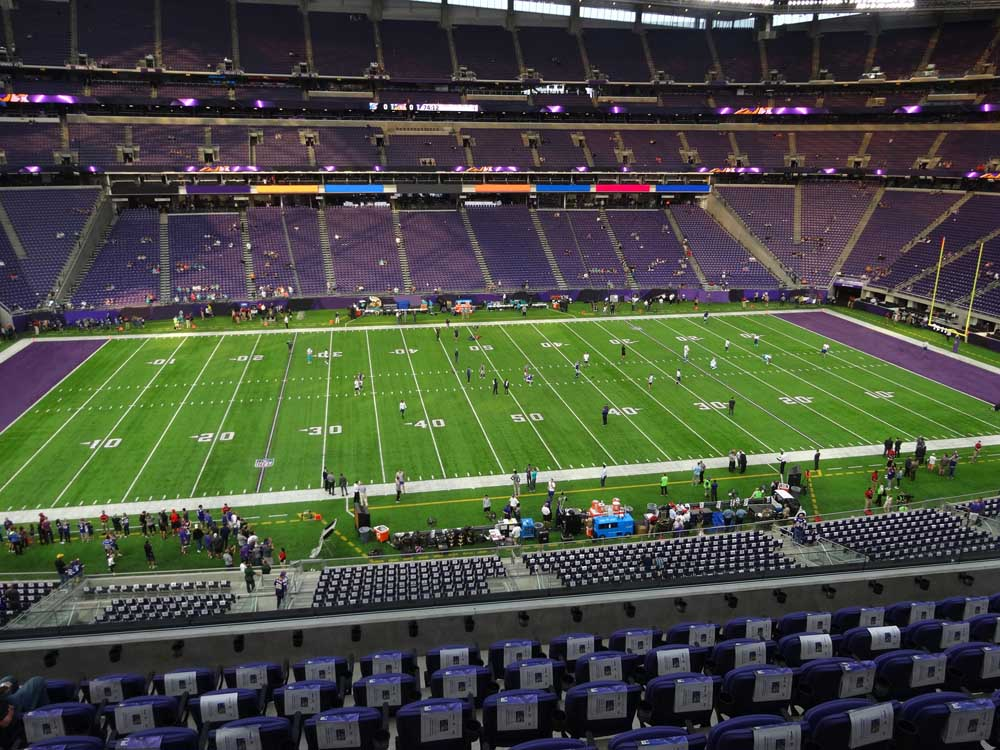 Us Bank Stadium View From Club Level C9 Vivid Seats