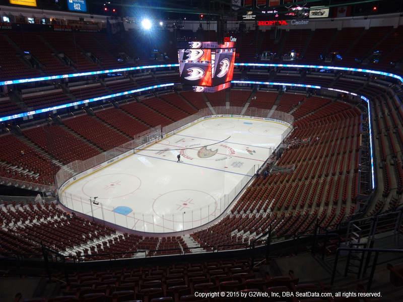 Honda Center View From Terrace Level 441 Vivid Seats