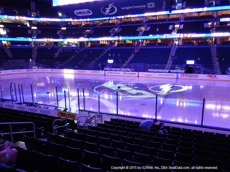 Amalie Arena View From Section 115 Dress Code Enforced Rows