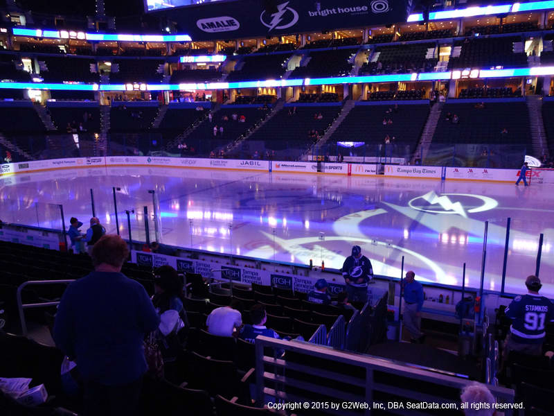 Amalie Arena View From Section 130 Dress Code Enforced Rows