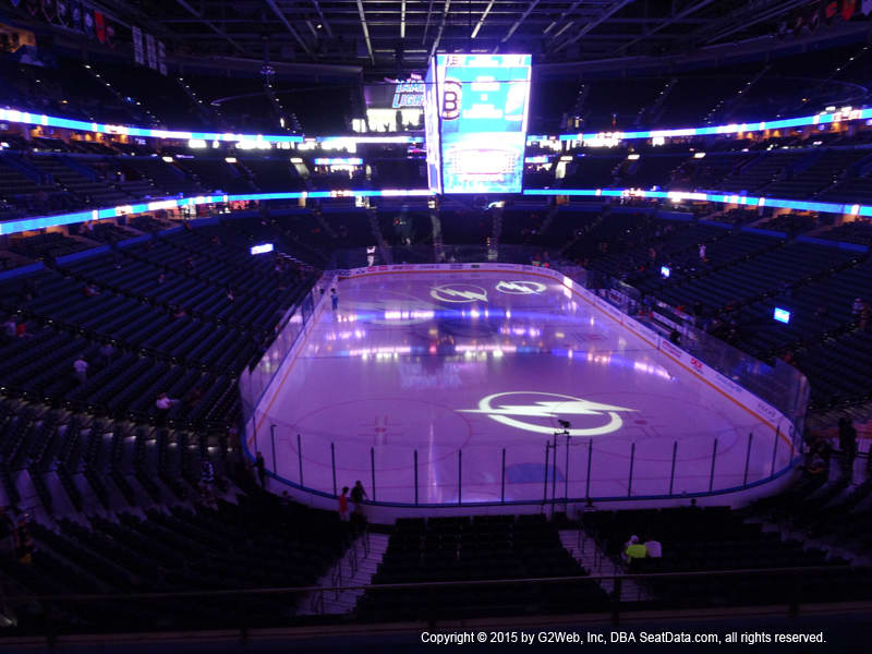 Amalie Arena View From Club Level 209 Vivid Seats