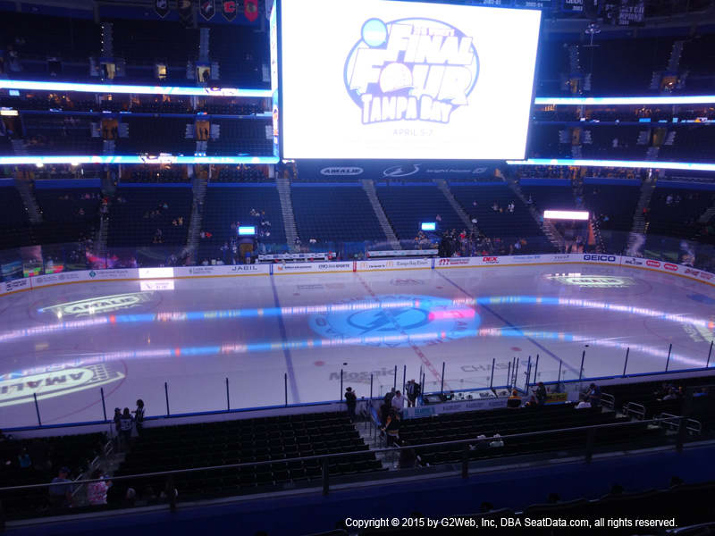 Amalie Arena View From Club Level 217 Vivid Seats