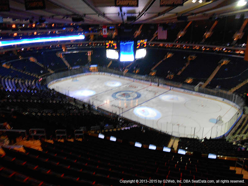 Madison Square Garden View From Section 412 | Vivid Seats